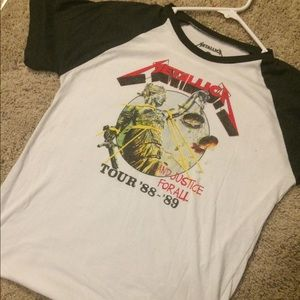 """Metallica Shirts - Metallica """"And Justice For All"""" Tour T-Shirt - M"""